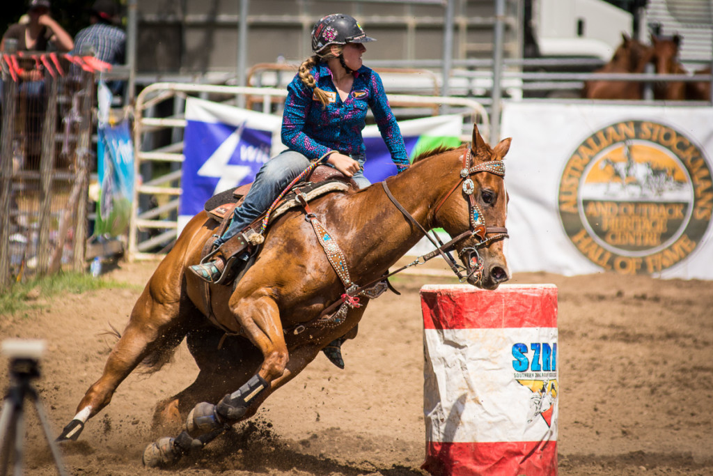 Gundagai Rodeo, junior barrels