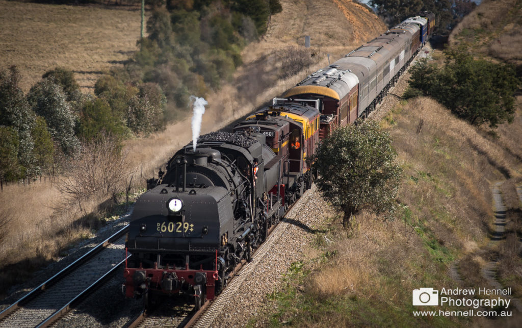 Steam engine 6029 coming into Yass